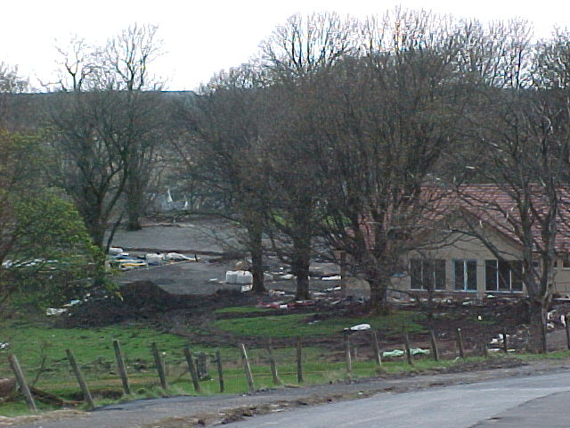 Muirkirk caravan park under construction spring 2000