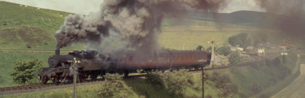 The Muirkirk to Lanark train departing Inches station