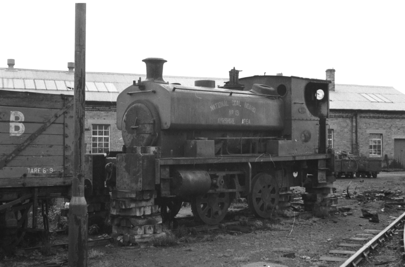 NCB Ayrshire Area locomotive No. 13 at Kames Colliery 11th September 1968