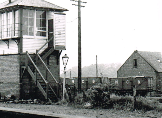 Muirkirk Signal Box and NCB Wagons June 1966