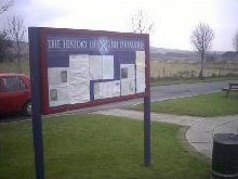 Covenanters information notice board at Muirkirk Heritage Layby
